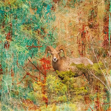 Mountain Sheep in the Painted Forest by montanaartist