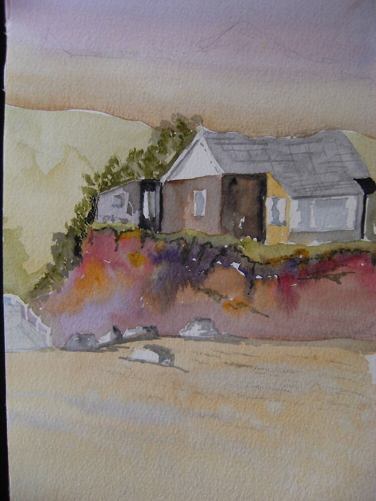 Beach cottage. by Rod Buckle