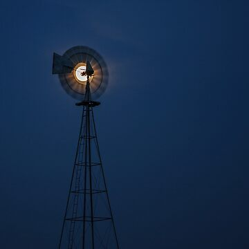 Mooned Windmill by BackRoadsPhotog