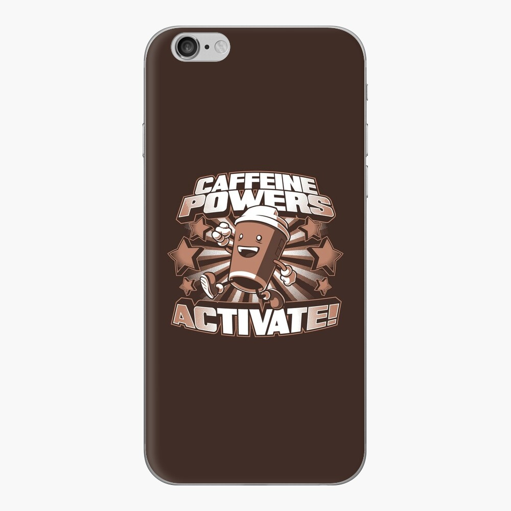 Caffeine Powers... Activate! iPhone Skin
