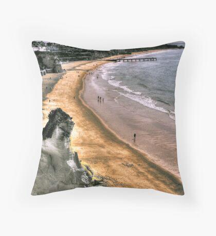 Algarve Coast Line Throw Pillow