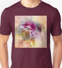 Columbine Blossom in Magenta and White T-Shirt