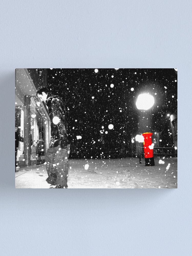 Alternate view of Gentleman Walking On Snow Canvas Print