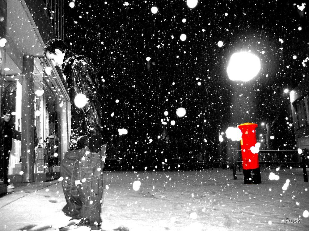Gentleman Walking On Snow by Ruski