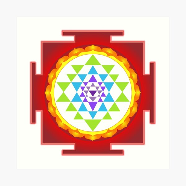 Sri Yantra Mandala for Meditation Art Print