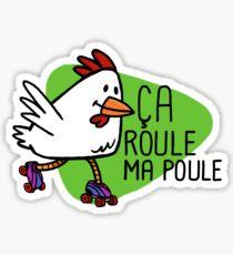 Rollerskating Hen - Ca roule! Sticker