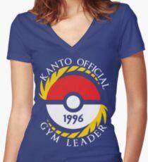 Pokemon Go Kanto Official Gym Leader Women's Fitted V-Neck T-Shirt