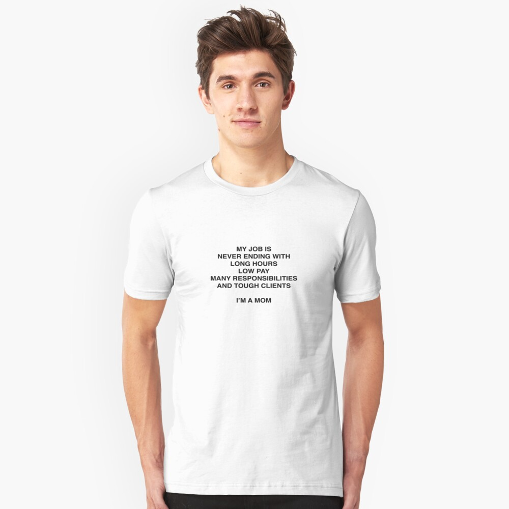 I'm A Mom BL Unisex T-Shirt Front