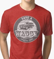 Save A Waggy Gray Tri-blend T-Shirt