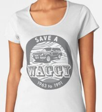 Save A Waggy Gray Women's Premium T-Shirt