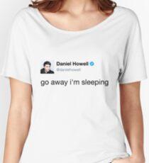 go away i'm sleeping daniel howell Women's Relaxed Fit T-Shirt