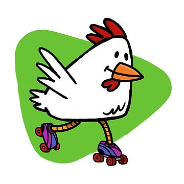 Rollerskating Chicken by pencilfury