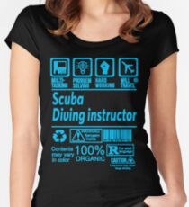 SCUBA DIVING INSTRUCTOR SOLVE PROBLEMS DESIGN Women's Fitted Scoop T-Shirt