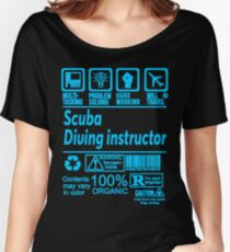 SCUBA DIVING INSTRUCTOR SOLVE PROBLEMS DESIGN Women's Relaxed Fit T-Shirt