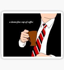A Damn Fine Cup of Coffee Sticker