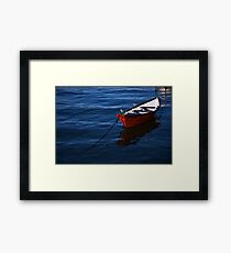Red Boat Framed Print