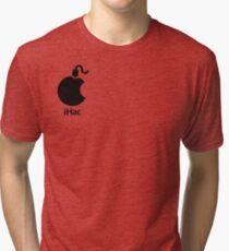 iHac(k) - Black Artwork Tri-blend T-Shirt