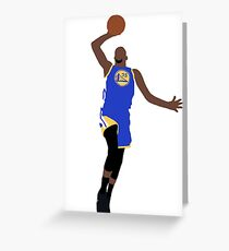 Kevin Durant Dunk Greeting Card