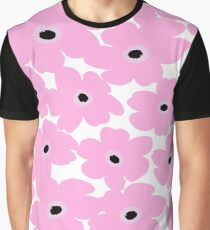 Pink Floral Pattern Graphic T-Shirt