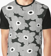 Silver Floral Pattern Graphic T-Shirt