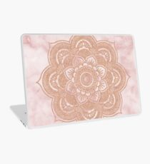 Rose gold mandala - pink marble Laptop Skin