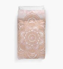 Funda nórdica Mandala de oro rosa - mármol rosa