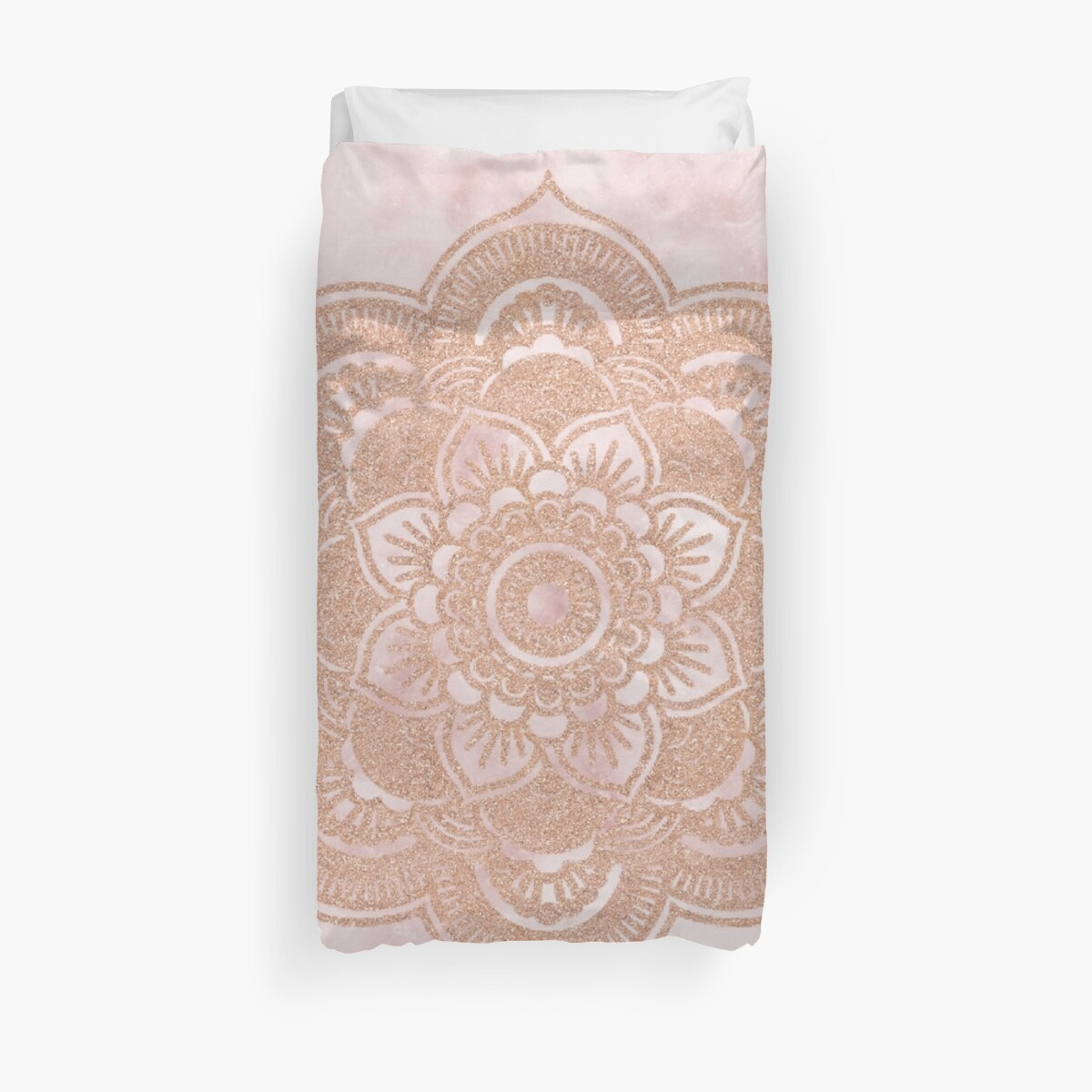 Quot Rose Gold Mandala Pink Marble Quot Duvet Covers By Marbleco