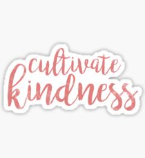 Cultivate Kindness - Pink Watercolor Sticker