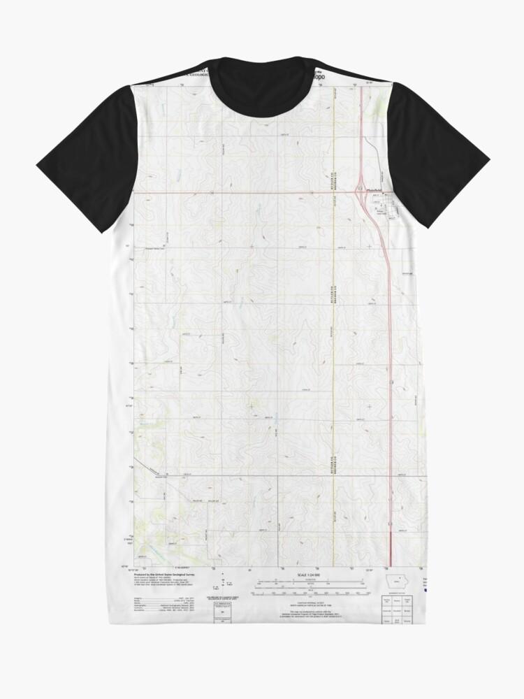 Alternative Ansicht von USGS TOPO Maps Iowa IA Plainfield 20130429 TM T-Shirt Kleid