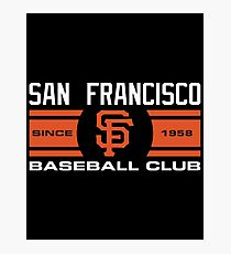 San Francisco Giants Baseball Club Photographic Print