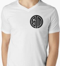TSM Cloudy Grey Mens V-Neck T-Shirt