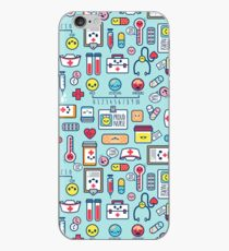 Proud To Be a Nurse / Surface Pattern Design / Blue iPhone Case