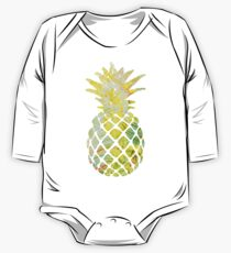 Pick A Pleasant Pineapple in Paradise #RBSTAYCAY #Sky #Blue #Tropical #Jungle #Summer #BeachParty One Piece - Long Sleeve