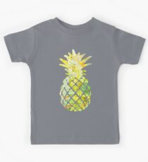 Pick A Pleasant Pineapple in Paradise #RBSTAYCAY #Sky #Blue #Tropical #Jungle #Summer #BeachParty Kids Tee