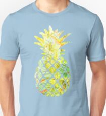 Pick A Pleasant Pineapple in Paradise #RBSTAYCAY #Sky #Blue #Tropical #Jungle #Summer #BeachParty Unisex T-Shirt