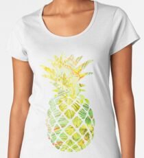 Pick A Pleasant Pineapple in Paradise #RBSTAYCAY #Sky #Blue #Tropical #Jungle #Summer #BeachParty Women's Premium T-Shirt