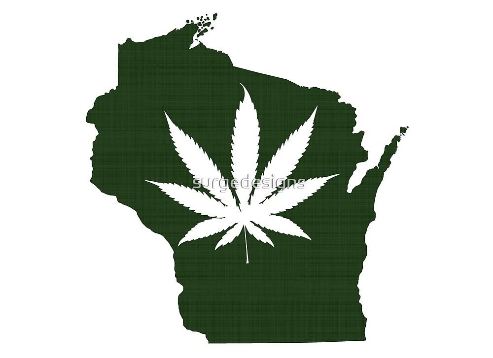 Marijuana Leaf Wisconsin by surgedesigns
