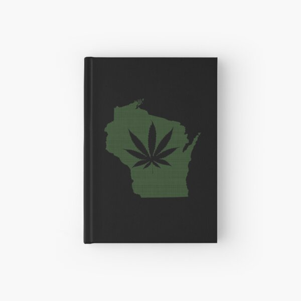 Marijuana Leaf Wisconsin Hardcover Journal