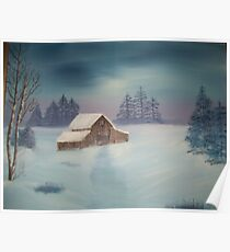 Barn in the Snow. Poster