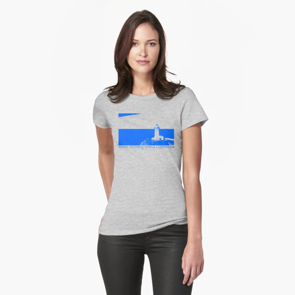 Lighthouse - South Solitary Island Fitted T-Shirt