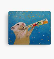 Happy Hamster New Year Canvas Print