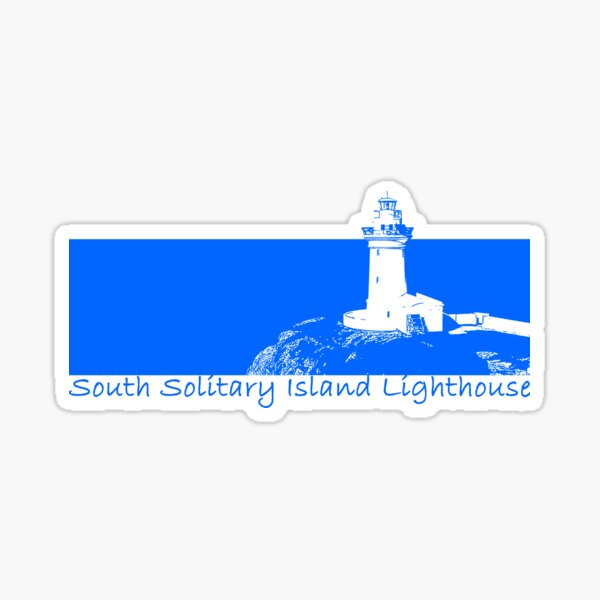 Lighthouse - South Solitary Island Sticker