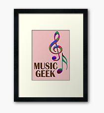Music geek Framed Print