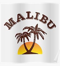 Malibu Rum Poster