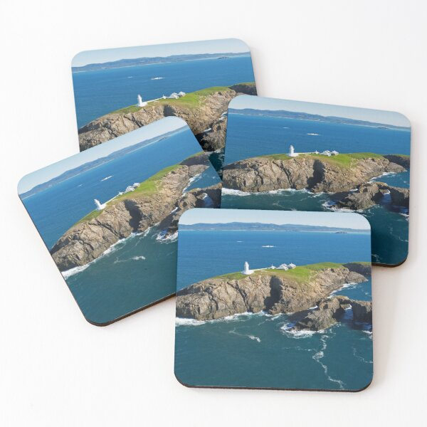 South Solitary Island Lighthouse Coasters (Set of 4)