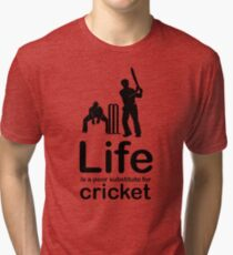 Cricket v Life - Black Graphic Tri-blend T-Shirt