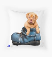 PawPals Plush Throw Pillow - Dogue Boot Ride! Throw Pillow