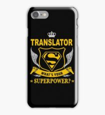 TRANSLATOR - SUPER POWER DESIGN iPhone Case/Skin