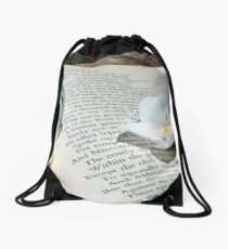Flowers and the Canto Drawstring Bag