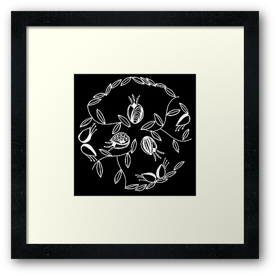 Tulips in a circle - Inverted by Dyan Burgess